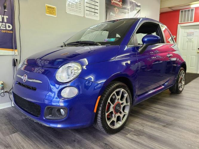 2012 BLUE FIAT 500 SPORT (3C3CFFBR4CT) with an 1.4L engine, Automatic transmission, located at 131 North Cameron Street, Harrisburg, 17101, (717) 257-0766, 40.266991, -76.875137 - Photo #0